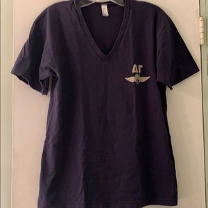 American Apparel Navy V-neck DG Greek Sing T-shirt